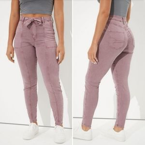 AEO Front Tie Jeggings